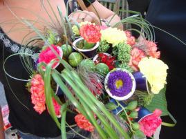 """Bouquet mariage sur le thème """"Récup"""" en capsules de café"""