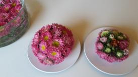 Boules fleuries